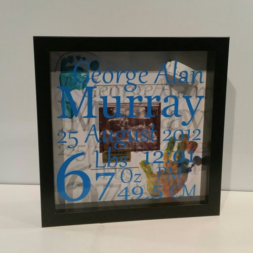 Baby Memory box frame — Handcrafted Me