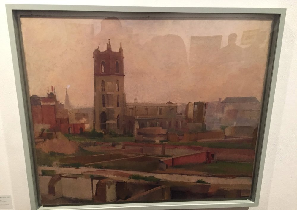 Cripplegate, William Coldstream. Oil on canvas, 1946