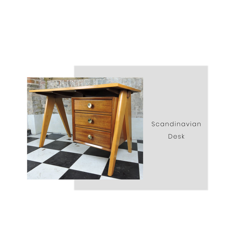 The design of this Scandinavian desk is stunning. Look at the legs! Mid-Century design is known for its clean lines and minimalistic appearance. We are finding it really hard to not to keep this!