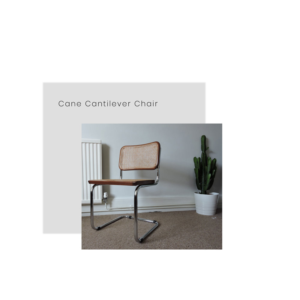 This 1960s Cane Cantilever Chair makes us so happy. How perfect would this look in the bedroom? This is design at its best #inlove