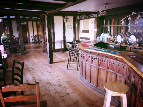 Those who came to the superb carol-singing and open evenings will have noticed the first addition to the pub. A lovely new floor.