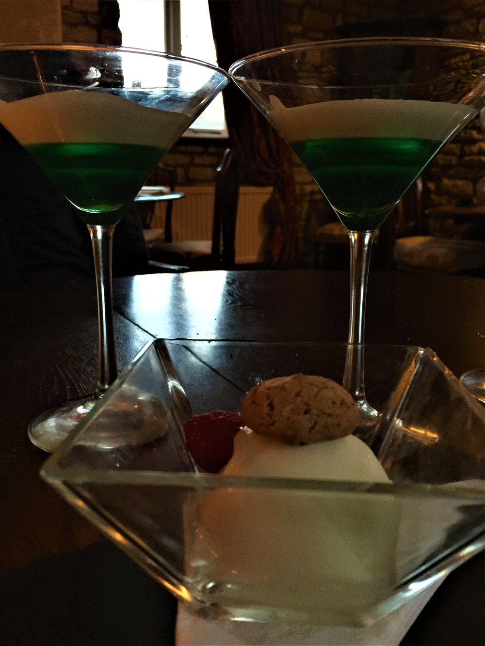 Dessert cocktails at The Fox & Hounds - - The Rural Travel Guide