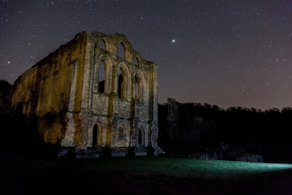 Dark skies at Rievaulx Abbey - - Russell Norman