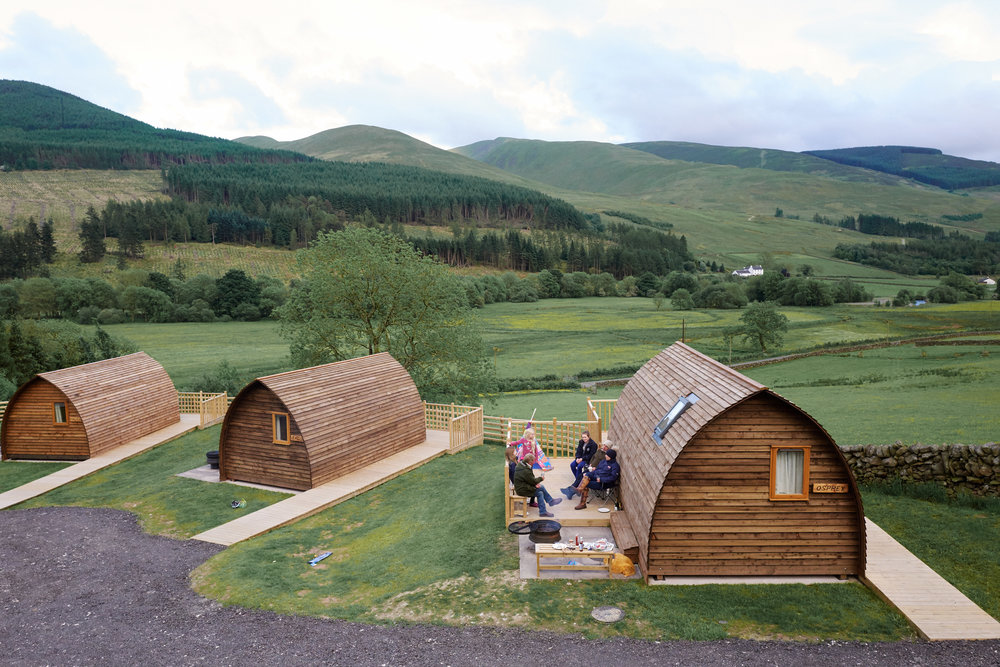 Huddled in the hills - - Wigwam Holidays