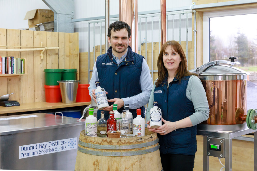 Martin and Claire Murray - -Dunnet Bay Distillery