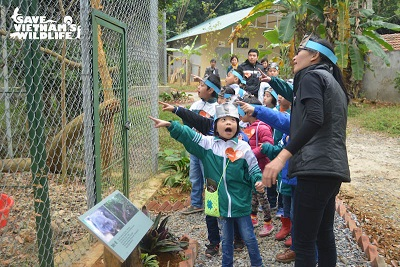 Some children learning about Vietnamese wildlife at the new SVW Education Centre! Photo: SVW