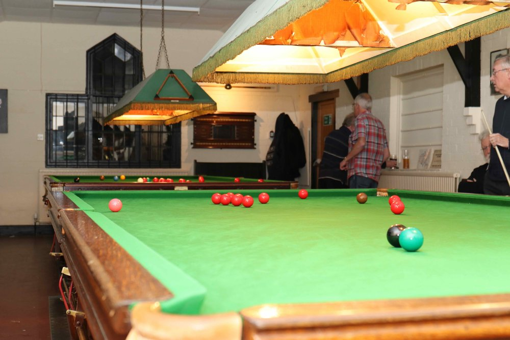 Snooker at the Hall