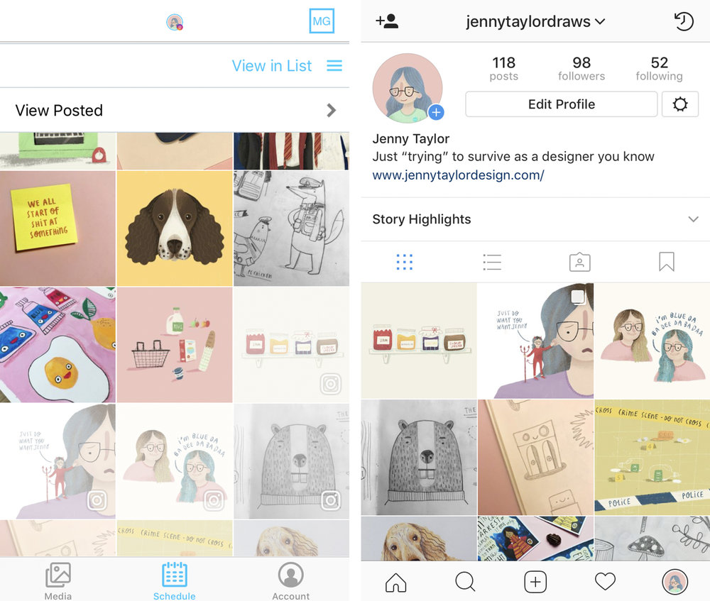 Helps to ensure my Instagram flows well and keeps a colour scheme
