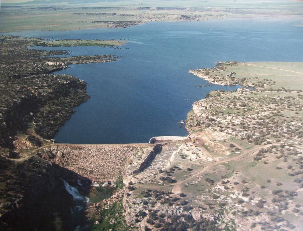 The Cucharas Reservoir (circa 1987) after a large winter runoff and rain.  We are in the process of redeveloping this reservoir.