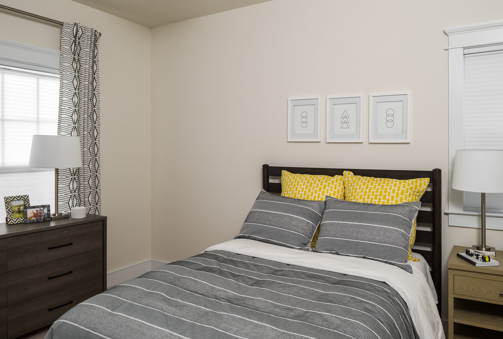 photo of a townhome bedroom