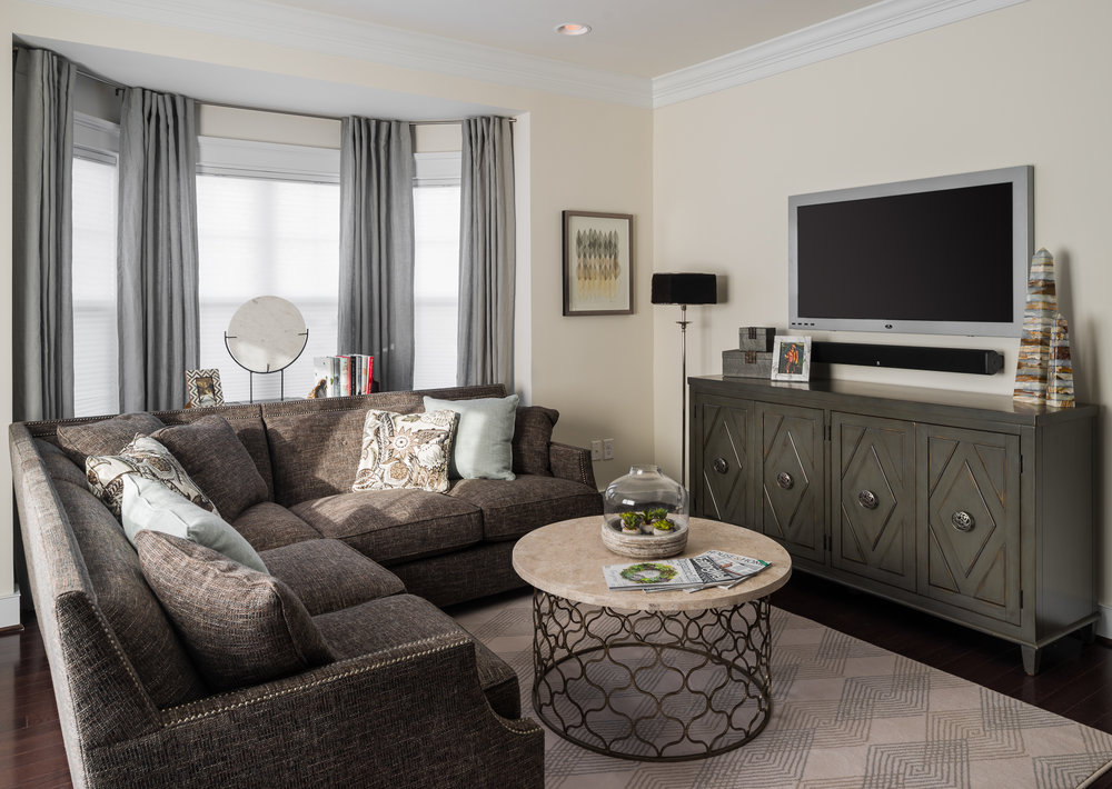 photo of a townhome living room