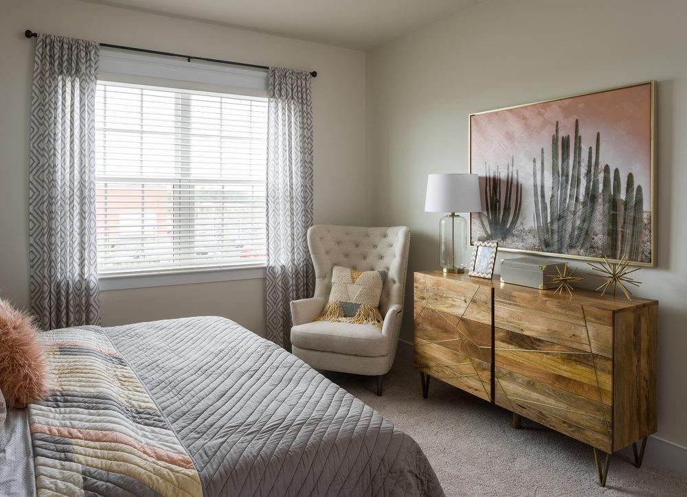 photo of a condominium bedroom