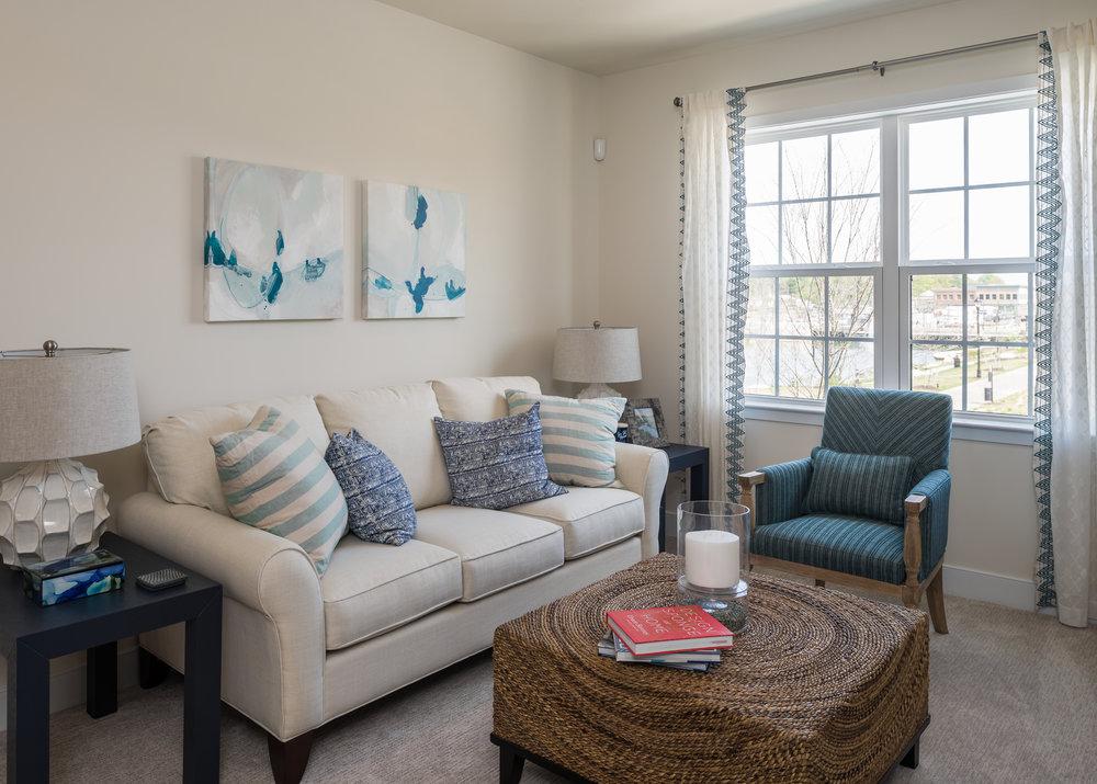 photo of a condominium family room