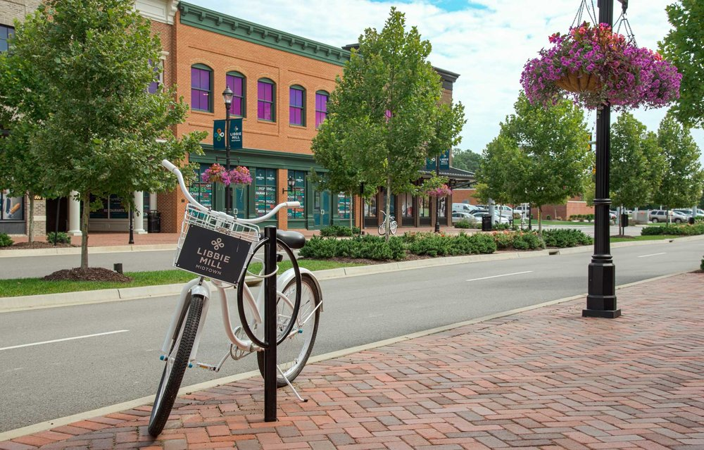 photo of a bicycle on libbie mill east boulevard
