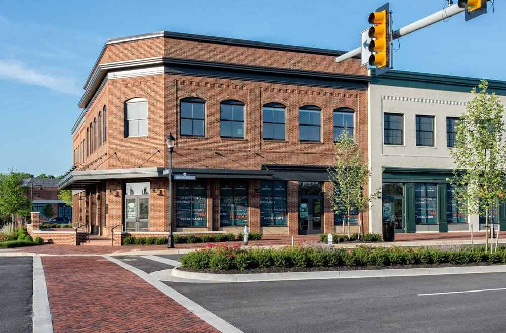 exterior photo of retail space in emmer row building