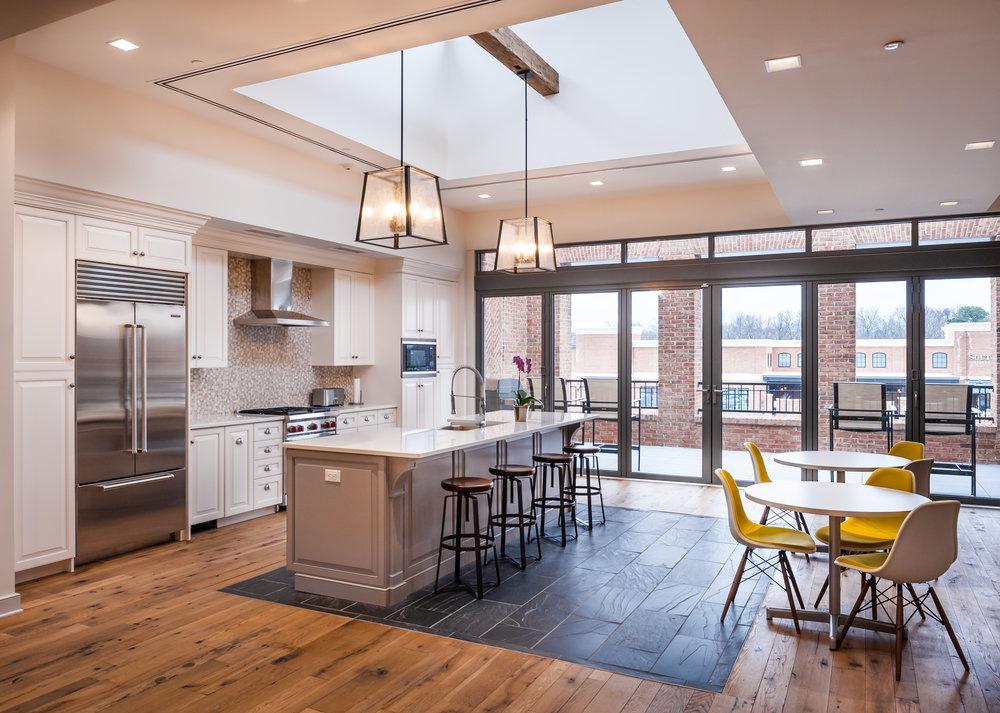 photo of gumenick properties' office kitchen