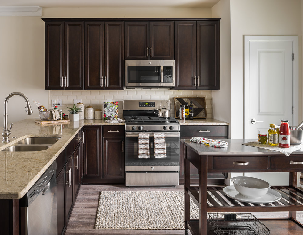 photo of a townhome kitchen