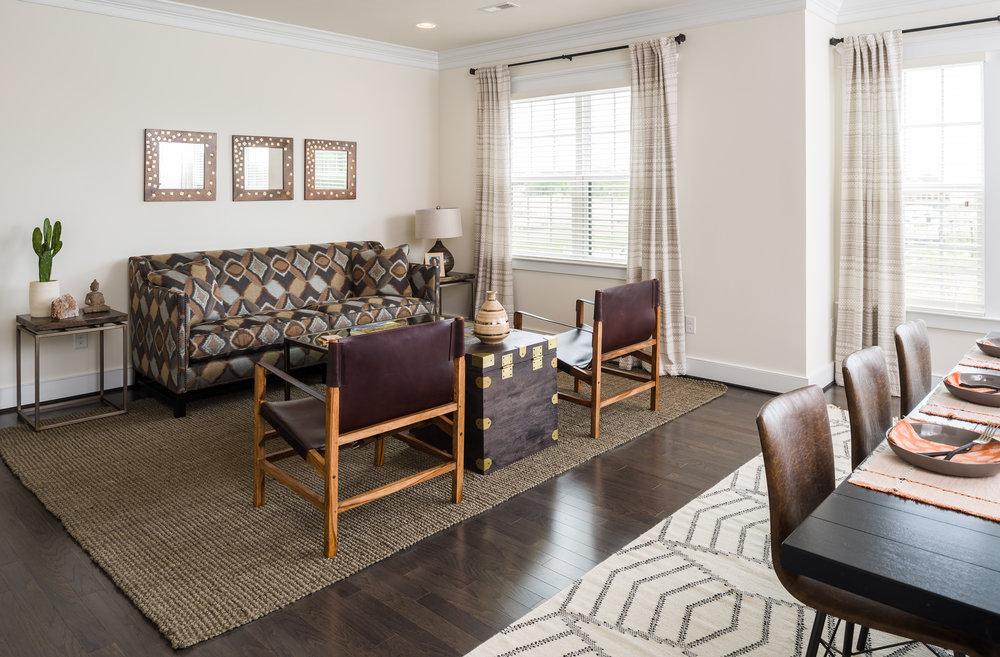 photo of a condominium great room