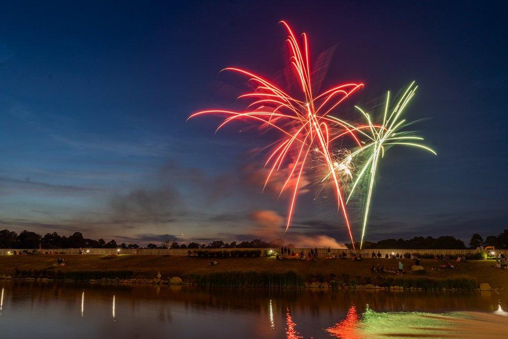 photo of fireworks at libbie mill - midtown