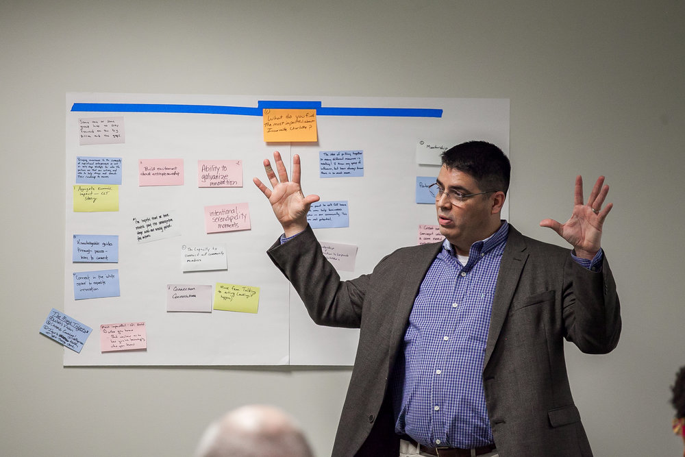 David Phillips (fasterglass.com) facilitated the feedback session