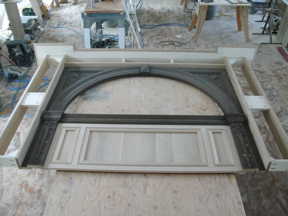 Center Panel Installed on Original Woodworking