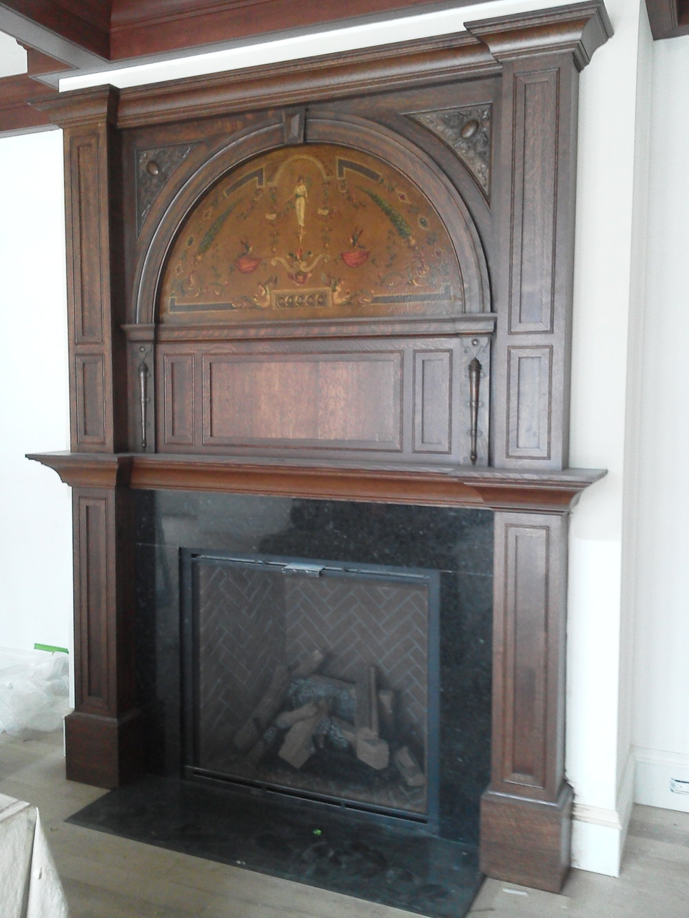Finished Fireplace Surround Project