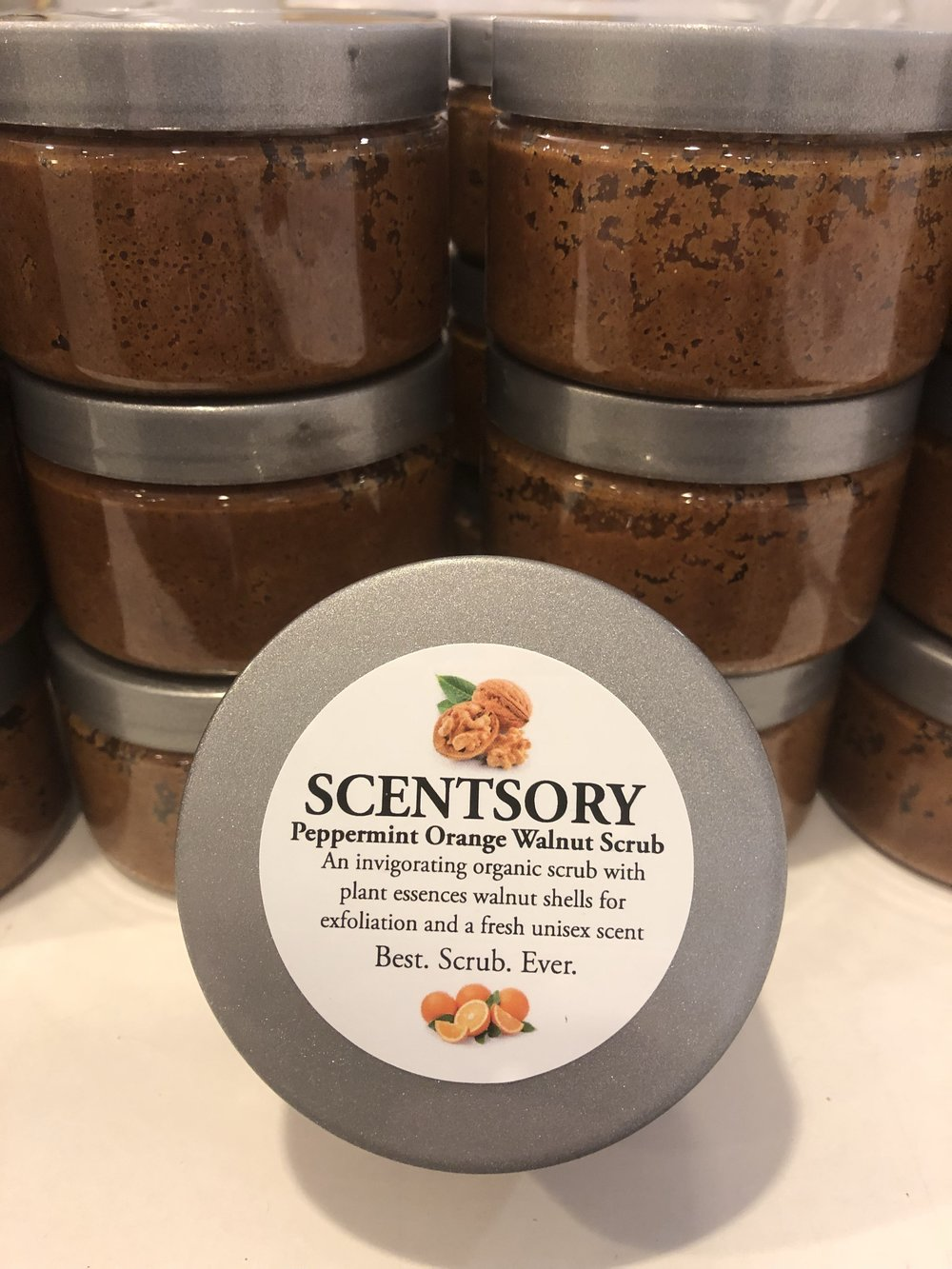 Peppermint Orange Walnut Scrub - one of our best-selling products with a host of recommendations! Hurry in to try and buy before we run out (again)!