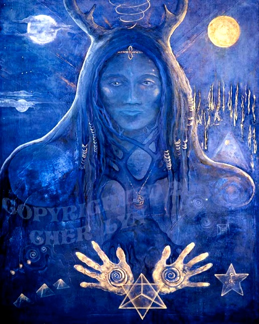 Blue Oracle Woman