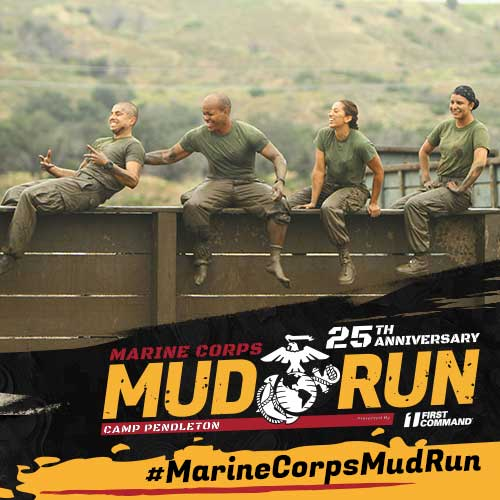 Marine Volunteers having fun at the Mud Run!