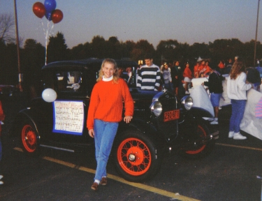 Teenage Lindsay (This was not my first car.)