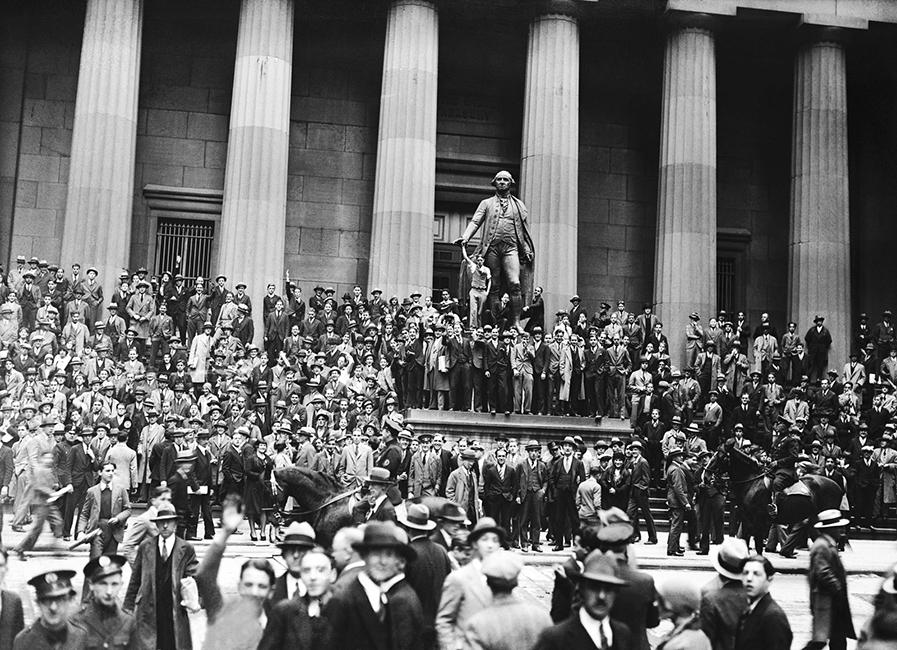 Crowd After Stock Market Crash - Bettmann, Corbis