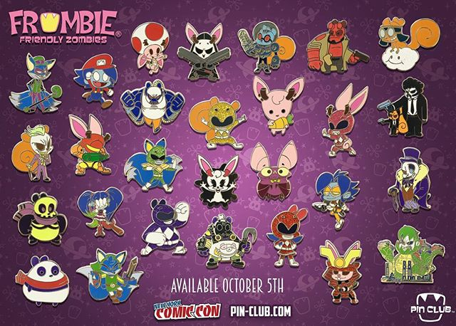 The wait is over! Here is your first look at our brand new @pinclubofficial Frombie pins! They will be up in the Pin-Club.com shop and also available at @newyorkcomiccon . Stop by our booth #120 for all the newest pins and mystery packs! 💀👍🏽