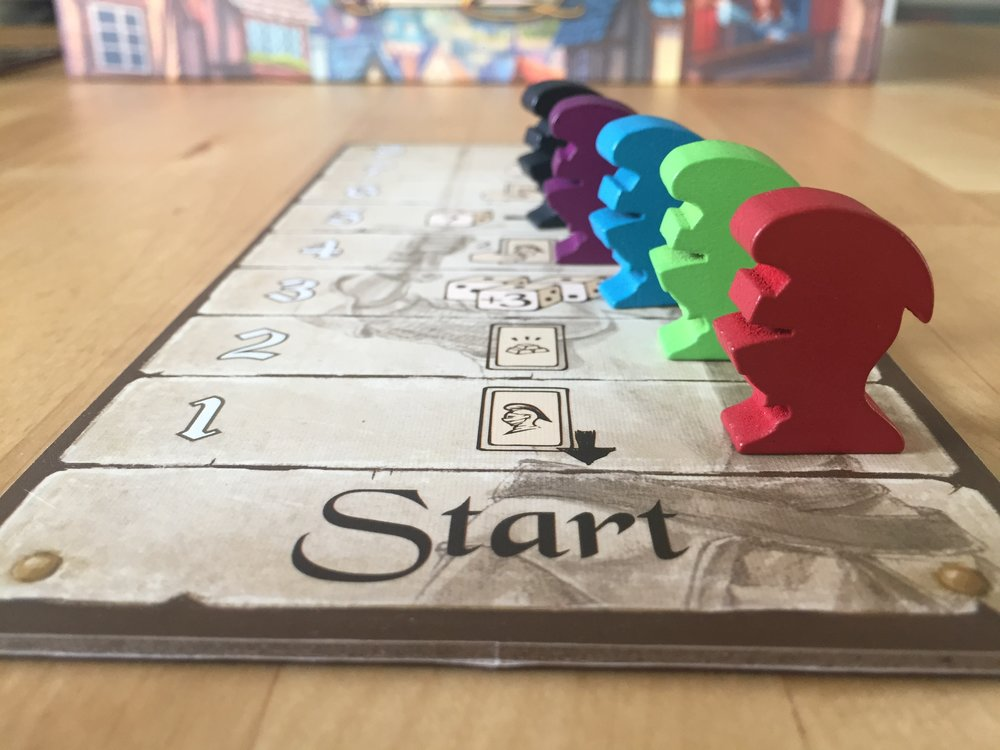 score track and wooden knight tokens