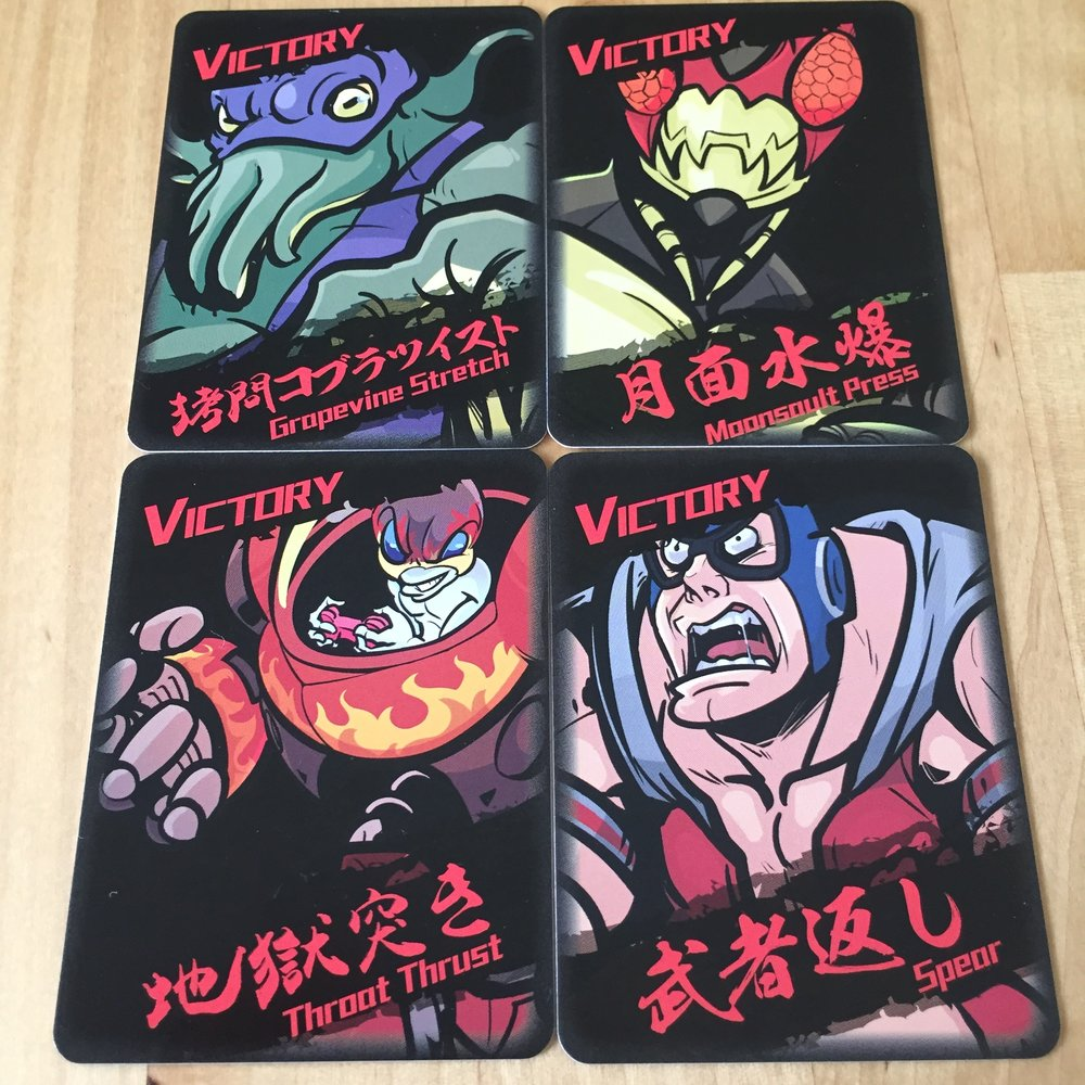 4 of the 5 Victory Cards! Not the greatest of names for ultimate wrestling moves.