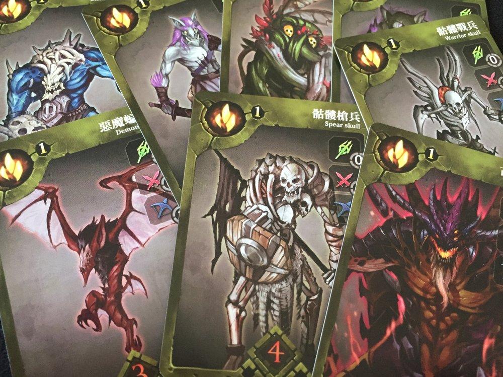 sample Regular Monster cards