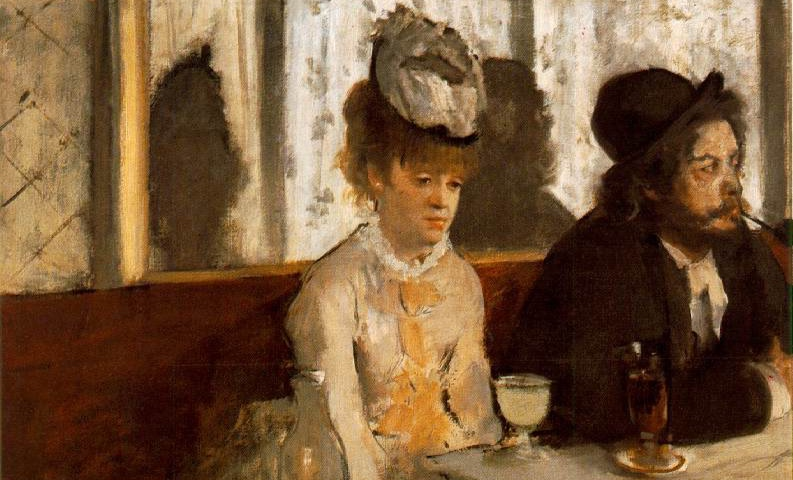 """cropped from Degas' """"L'absinthe"""""""