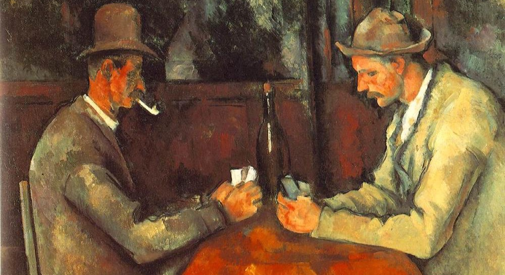 """cropped from Cezanne's """"The Card Players"""""""