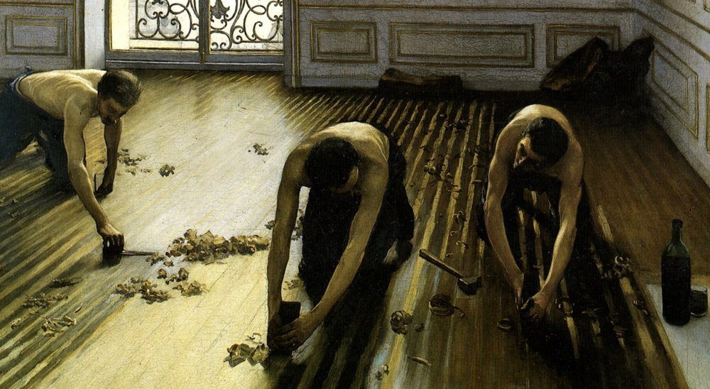 """cropped from Caillebotte's """"Les raboteurs"""""""