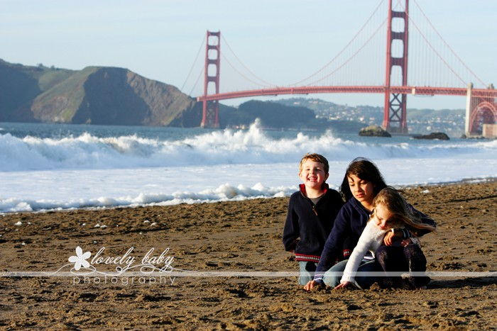 baker beach, san francisco family and children's photographer