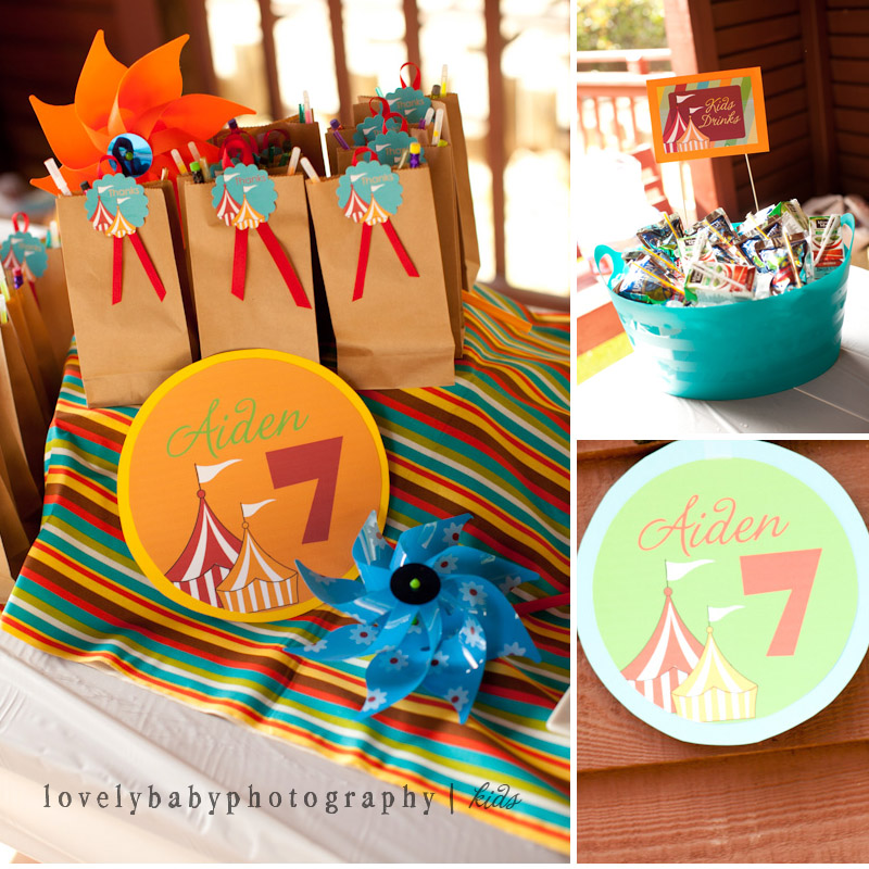 boy's carnival themed sacramento birthday party