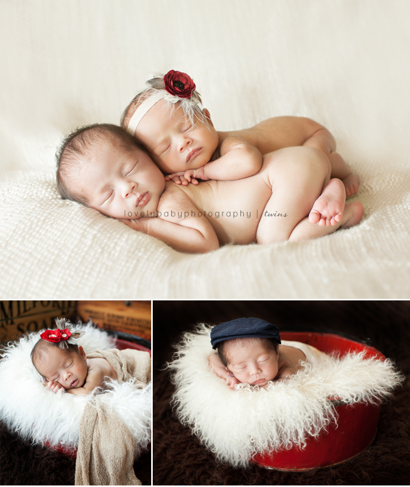 sacramento twins newborn baby photography studio