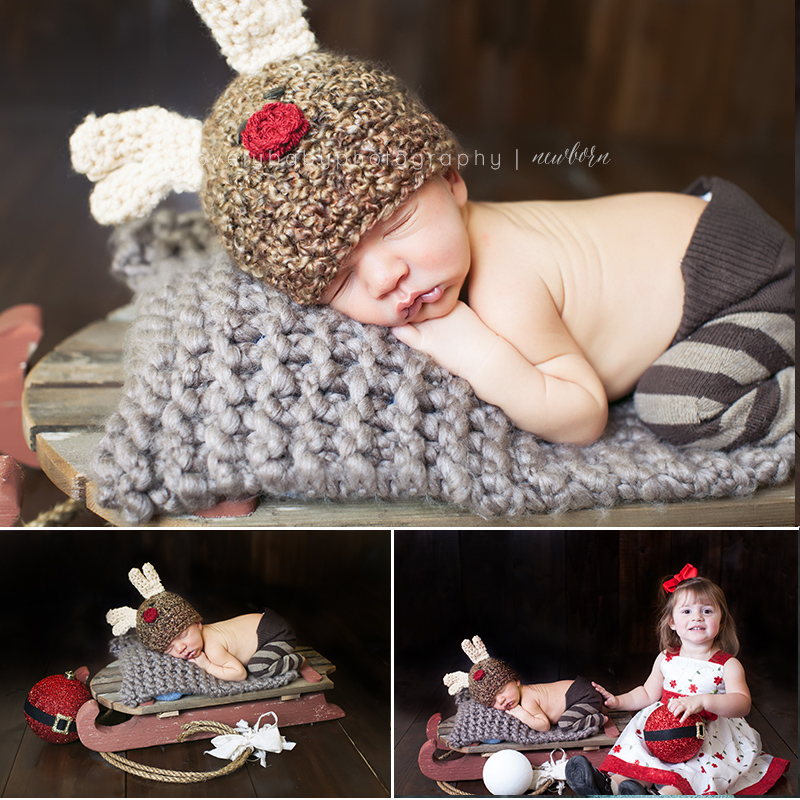 04 reindeer christmas baby photography