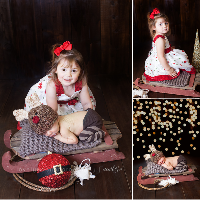 05 reindeer christmas baby photography