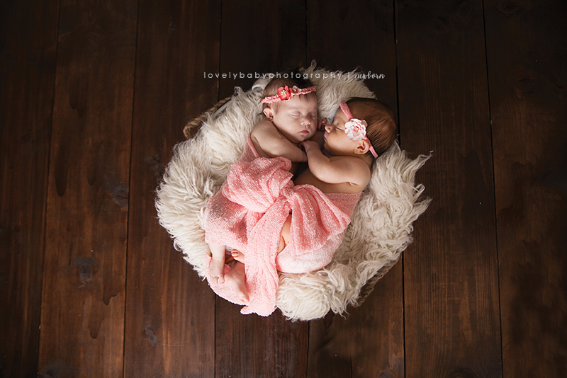 newborn twin girl photography sacramento