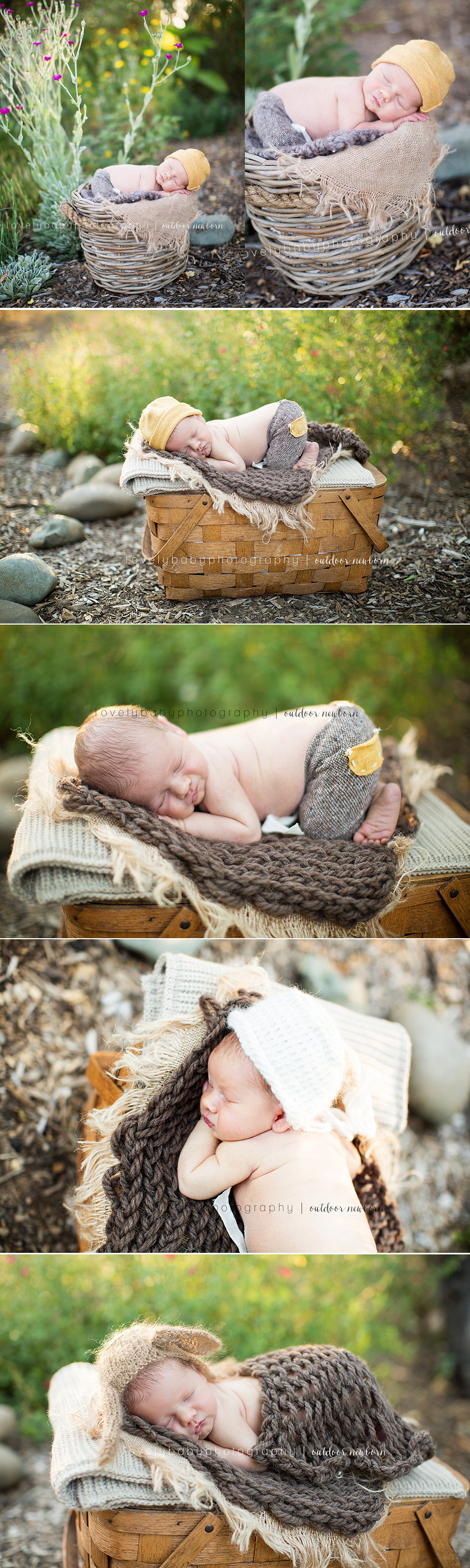 sacramento outdoor newborn boy photographer