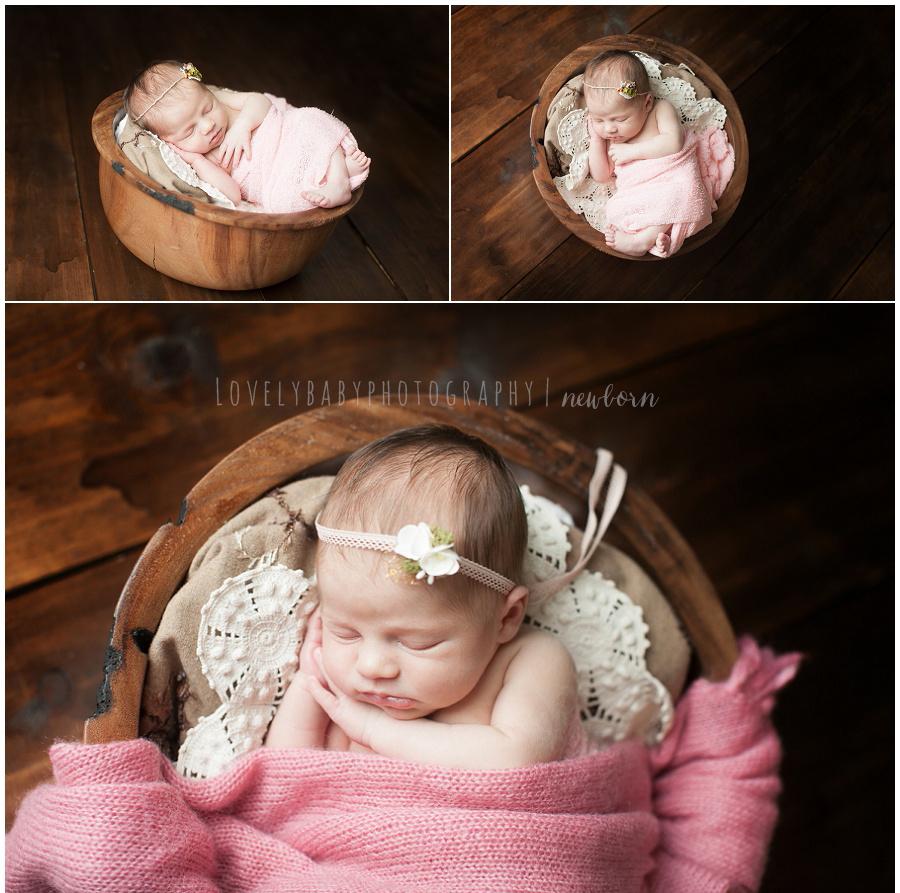 10 organic style studio newborn photography