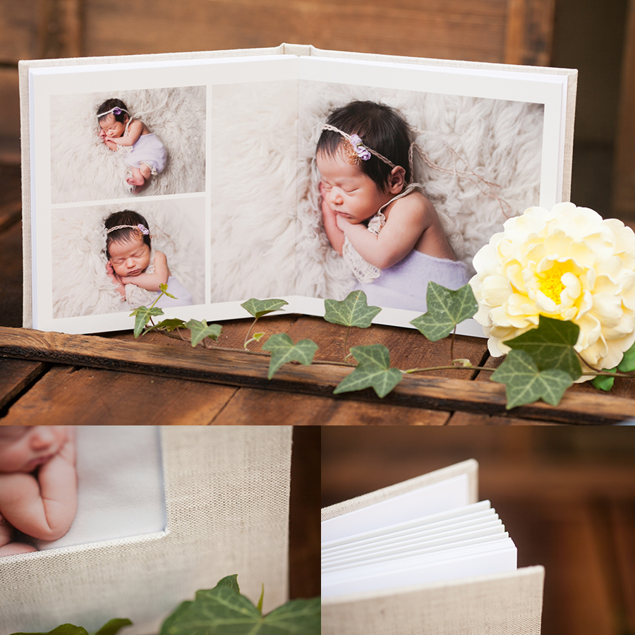 03 gorgeous newborn photography heirloom album