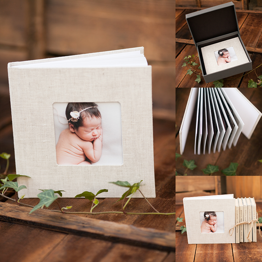 04 gorgeous newborn photography heirloom album