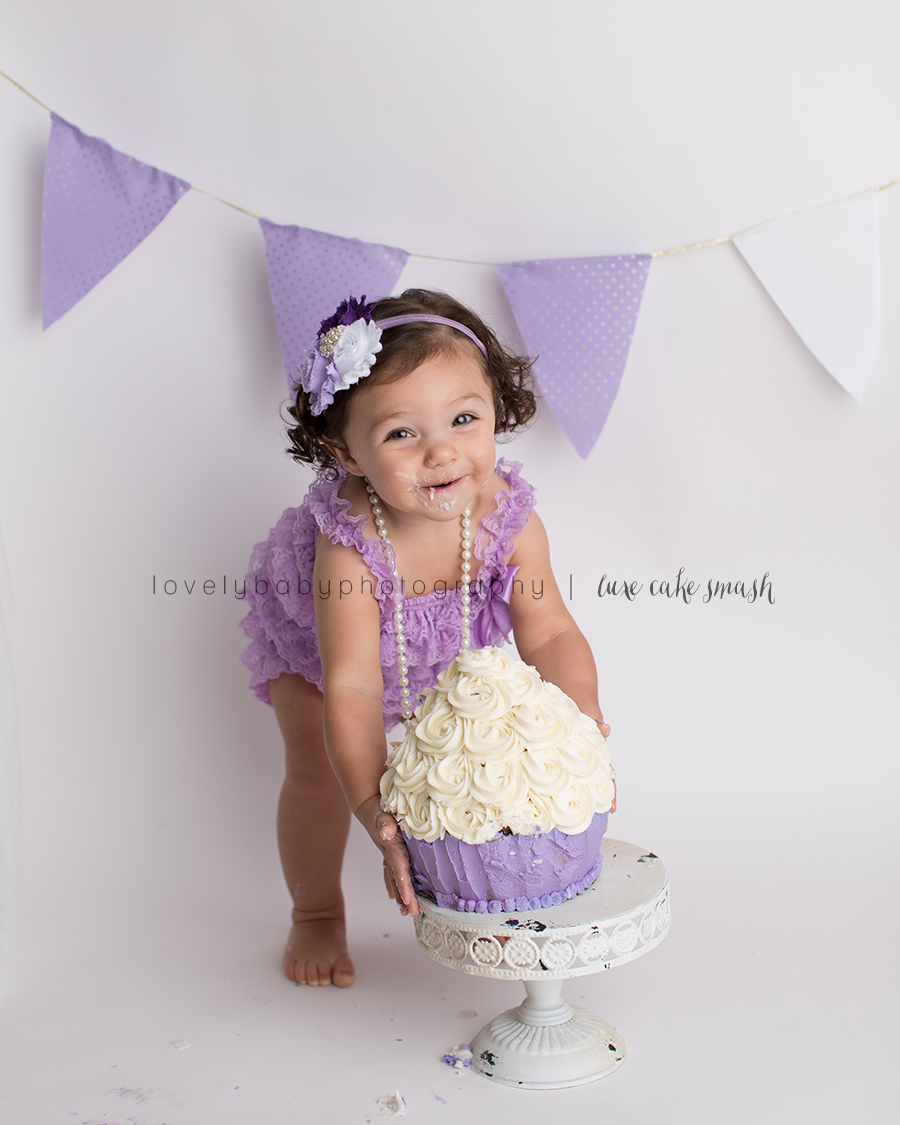 sacramento girl's one year cake smash portraits