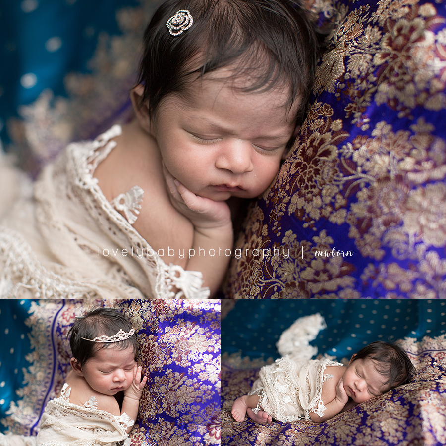 04 maharani newborn indian princess photography